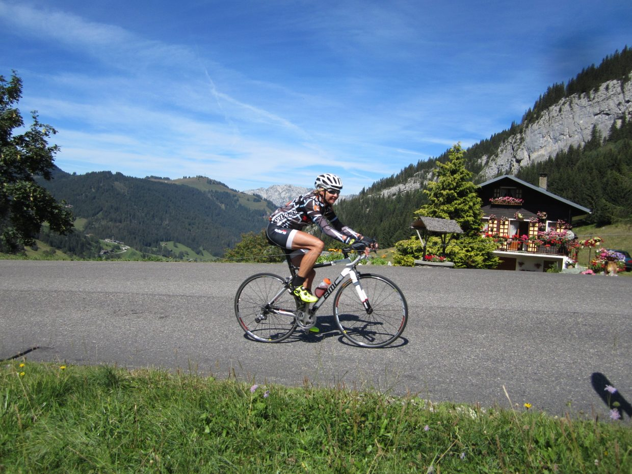 Xoman cycling in the Aravis French Alps